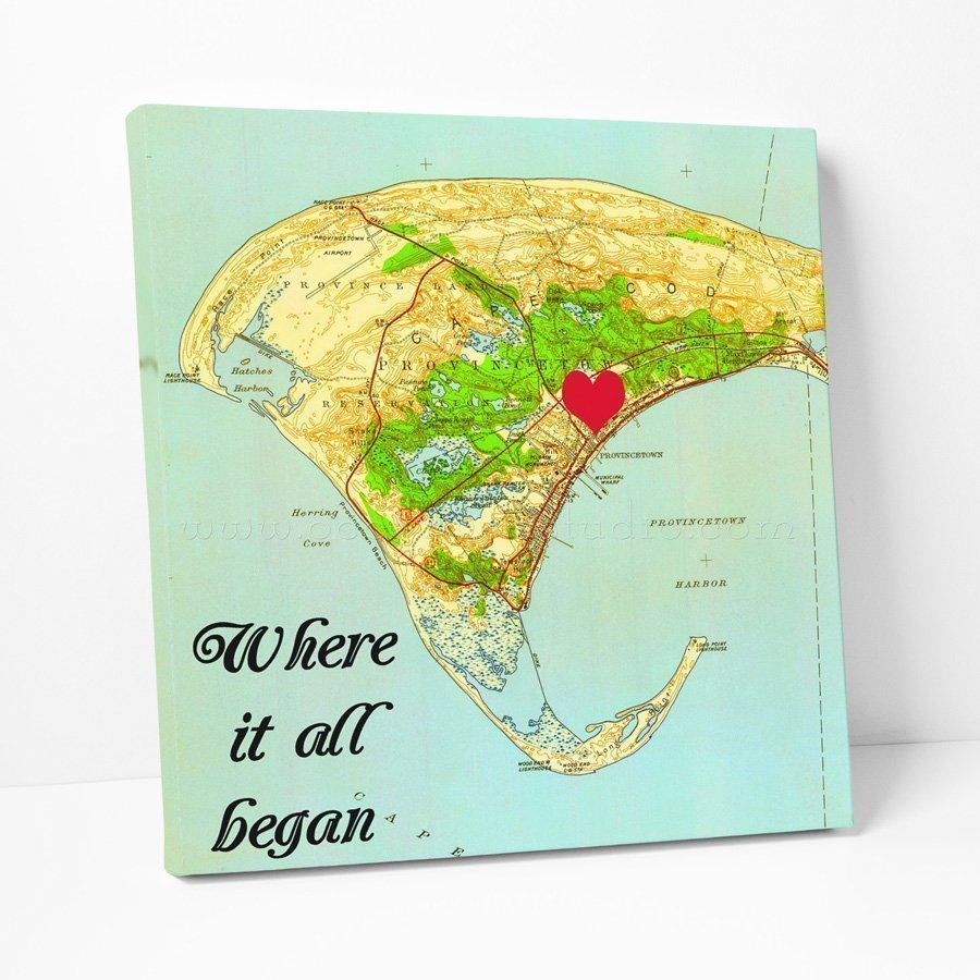 Personalized map canvas print, canvas print map, custom map art ...