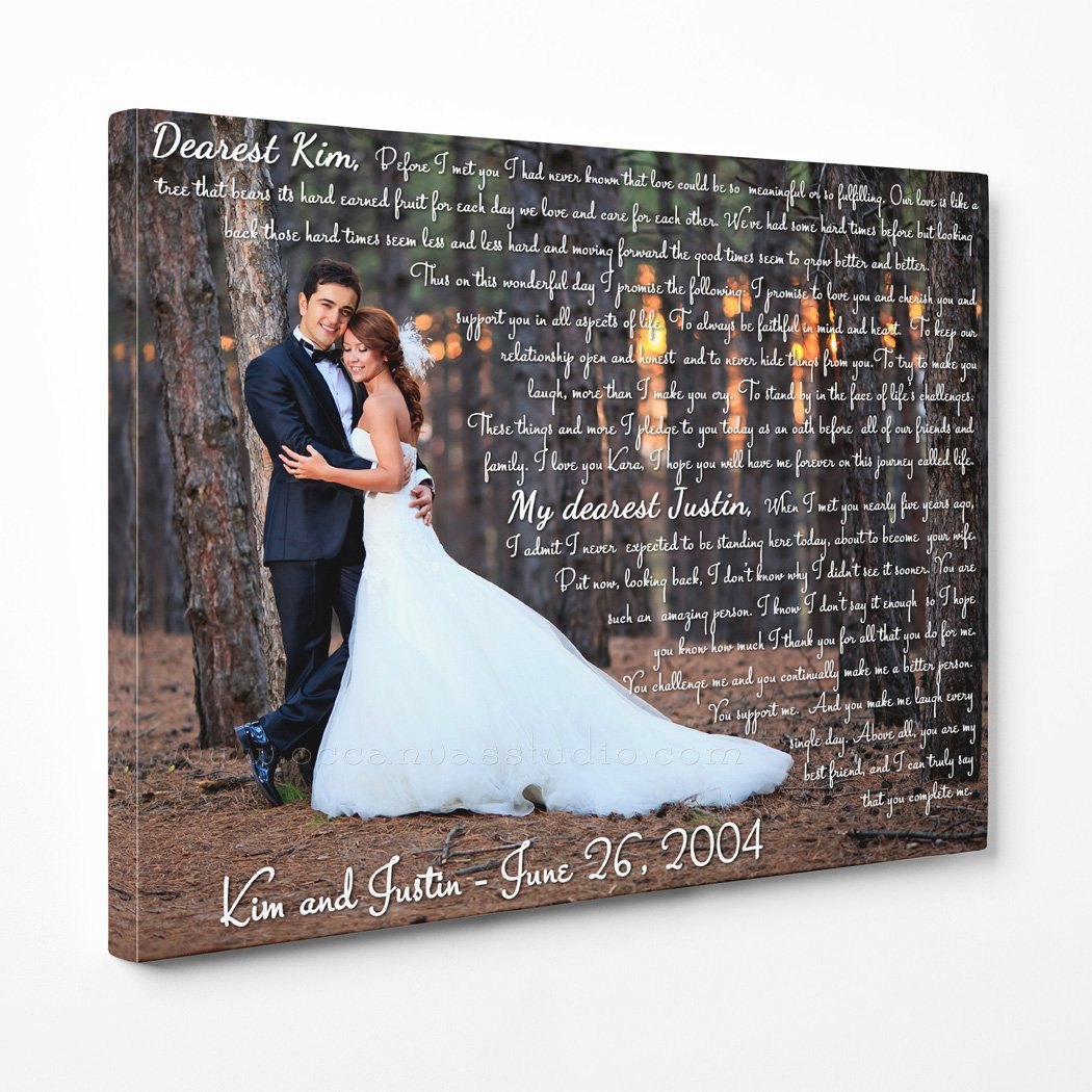 Wedding Vows Art Canvas Print